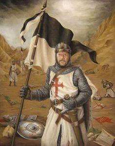 Caballero templario en el barranco de Montgisard, la gran victoria de Balduino el leproso sobre el ejército de Saladino. La mejor colección de láminas militares en http://www.elgrancapitan.org/foro/