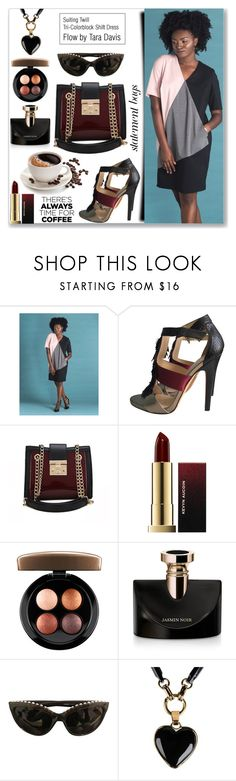 """Buzz-Worthy: Coffee Date  (Work Wear)"" by jecakns ❤ liked on Polyvore featuring Jimmy Choo, Kevyn Aucoin, MAC Cosmetics, Bulgari, Chanel, Emilio Pucci, WorkWear, dress, Elegant and tricolor"