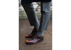 Masculino de los pies a la cabeza: zapatos de cordones y traje de chaqueta. ¡De lujo! - Propia