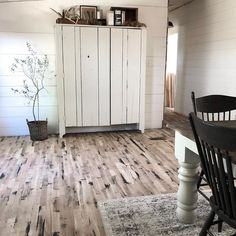 Rustic Black Painted Hardwood Floors – Rocky Hedge Farm – Famous Last Words Painted Hardwood Floors, Clean Hardwood Floors, Patio Flooring, Best Flooring, White Painted Furniture, Remodeling Mobile Homes, Traditional Landscape, Painting On Wood, Home Decor