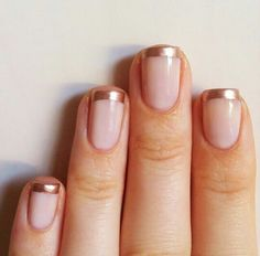 Gold/silver french tips