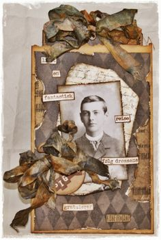 Challenge 6 - All about him - Maya Love Cards, Diy Cards, Masculine Art, Scrapbook Pages, Scrapbooking Ideas, Ranger Ink, Distressed Painting, Card Tags, Tag Art