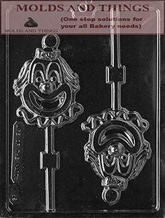 CLOWN Lolly Kids Chocolate candy mold with Copywrited molding Instructions