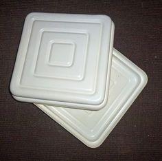 Transport ✿ Tortenbehälter Plastik ✿ Original DDR von alles.DABEI vintage auf DaWanda.com