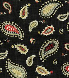 Home Decor Print Fabric- Waverly Desert Sky Graphite