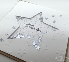 Stampin Up - Stamped Heart - Christmas Shaking Card Merry Christmas 02 - Anything Santa - Noel Diy Christmas Cards, Stampin Up Christmas, Holiday Cards, Merry Christmas, Christmas Ideas, Paper Cards, Diy Cards, Navidad Simple, Stampin Up Weihnachten