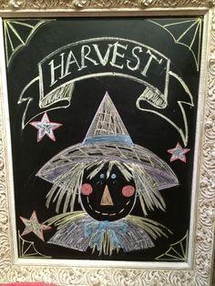 Scarecrow chalkboard!! (: