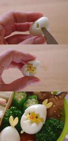 #FunnyFood zu #Ostern aus Wachteleiern anrichten #diy