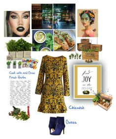 """""""Cook and Grow Fresh Herbs Chicwish"""" by lolly-p ❤ liked on Polyvore featuring GUESS, Chicwish and Wesco"""
