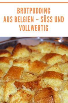 """Wer an belgische Spezialitäten denkt, denkt wahrscheinlich an Waffeln, Schokolade, Pralinen und Pommes frites. """"Waterzooi"""" heißt ein traditionelles Essen aus dem nördlichen Teil des Landes und auch der Schinken aus den Ardennen ist weit über die Grenzen Belgien hinaus bekannt. Ein anderes traditionelles Gericht ist hingegen der Brotpudding aus Belgien, eine süße Hauptspeise, die köstlich schmeckt und sehr satt macht.  #brotpudding #belgien #ofenliebe #affekt #affektblog Fabulous Foods, Cupcakes, French Toast, Pie, Foodblogger, Breakfast, Sweet, Desserts, Muffins"""