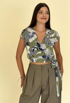 SAMANTHA TOP Street Style, Blouse, Floral, Pattern, Cotton, Shirts, Tops, Women, Fashion