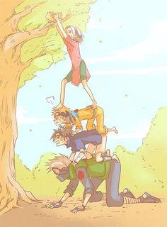 Kakashi is prolly tall enough lol
