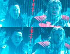 Lol Thor is a terrible driver and Loki is letting him know it.. I loved this scene because the acted like brothers in the back seat of the car