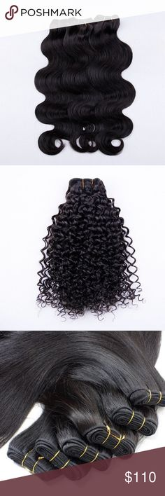 """100% Virgin Hair Extensions 100G Excellent quality 8A Virgin Hair. You can curl, straighten, wash, dye, or whatever you want as if it is your hair. It is 100% natural hair. PRICE IS FOR 20"""" Natural Color 1b Accessories Hair Accessories"""
