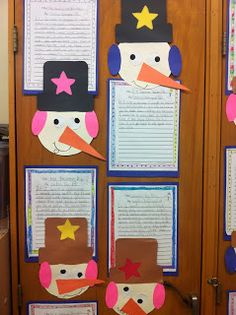 Adorable snowman glyphs and writing activities for winter.