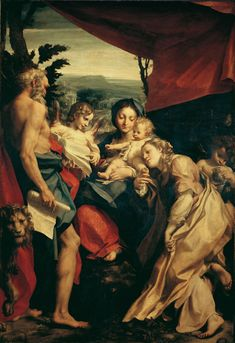 Antonio Allegri detto Correggio - Madonna di San Girolamo, 1528. Parma, Galleria Nazionale. Manina affettuosa