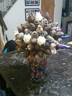 Chocolate covered strawberry boquet