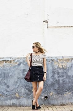 A-Line Denim Skirt 1