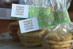 Nice labels for upcoming cake stall