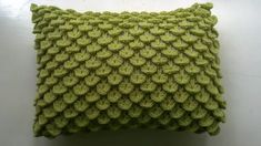 Ravelry: Crocodile Stitch Pillow pattern by Knit A Bit, Crochet Away Crochet Cushion Pattern, Crochet Pillow Cases, Crochet Pillow Patterns Free, Crochet Cushion Cover, Crochet Cushions, Free Pattern, Cushion Covers, Crochet Blankets, Crochet Baby Cocoon