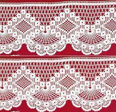 Crochet Edgings Design Crochet lace edging with point Crochet Edging Patterns, Filet Crochet Charts, Crochet Lace Edging, Crochet Hook Set, Crochet Motifs, Crochet Borders, Thread Crochet, Crochet Trim, Irish Crochet