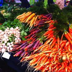 Look at the colors of the Portland Farmers Market!