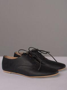 MM6 Black Lace-up Oxfords