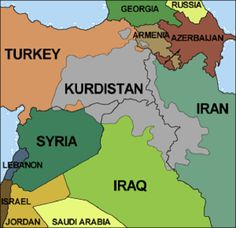 The map of greater kurdistan. Lets hope this dream becoms a reality.