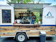 The Wandering Coffee Co. Coffee Trailer For Sale in Ohio - Food Trailer For Sale, Trailers For Sale, Coffee Food Truck, Coffee Truck For Sale, Mobile Coffee Shop, Catering Van, Pizza Truck, Coffee Trailer, Coffee Shop Business