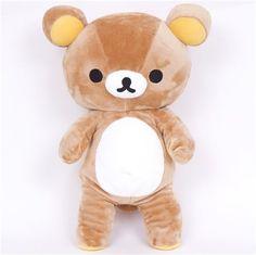 big Rilakkuma plush toy brown bear kawaii