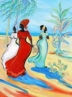 Caribbean Art - Janice Sylvia Brock - En Passant