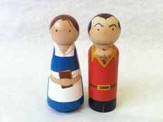 Magical Mini Belle and Gaston by discoverartbyapril on Etsy, $40.00