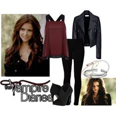 Katherine pierce outfit by kontrynasu on Polyvore featuring River Island, Balenciaga, Vero Moda, Jessica Simpson, David Yurman and Astley Clarke