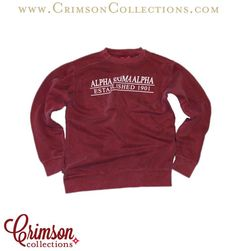 Alpha Sigma Alpha brick red classic lined sweatshirt!! The perfect new Alpha Sigma Alpha closet addition for this fall and winter!!