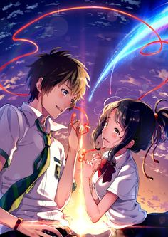 Wie 32 Bilder für mehr Bonitas von Kimi no Na wa (Ihr Name) – Carla Winne – Best Picture For wallpaper anime boku no hero For Your Taste You are looking for something, and it is going to tell you exactly what you are looking for, and you didn't find … Film Manga, Film Anime, Manga Art, Manga Anime, Anime Boys, Anime Love Couple, Cute Anime Couples, Anime Cosplay, Mitsuha And Taki