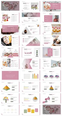 **De Dessert - Keynote Template**- Premade color variation color ) Get it now!, an great Keynote template for multipurpose presentation business or personal needs. Cute Powerpoint Templates, Powerpoint Slide Designs, Keynote Template, Kids Graphic Design, Graphic Design Brochure, Powerpoint Background Design, Presentation Layout, Web Design Tutorials, Web Design Inspiration