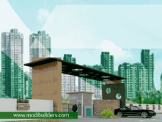 High-class facilities like swimming pool, security, gardens at Greenville of Modi Builders.