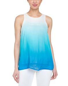 Spotted this Julie Brown Jesse Blue Silk Chiffon Top on Rue La La. Shop (quickly!).