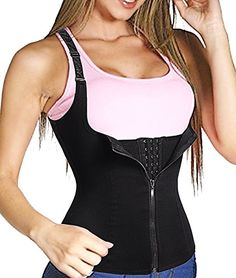 Women Waist Trainer Corset Cincher Tank Top Vest Body Shaper Steel Boned for Weight Loss Tummy Underbust Shapewear Junlan Waist Trainer Cincher Corset Shaperwear Tank Top Vest for Weight Loss Sport Workout Body Shaper Tummy Fat Burner… Waist trimmer belt help relieve pain and improve posture.Plus Size lingerie Waist training cincher vest as a workout band giving you the hourglass figure shape, you can wear it under a tight fitting dresses even as a postpartum support girdle   Sweat Vest