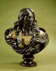 'Borstbeeld van Louis II de Bourbon, prins van Condé, maarschalk van Frankrijk, bijgenaamd 'Le Grand Condé' (1621-1686)'. Jerome Derbais, c. 1695. h 85 cm. -Rijksmuseum Amsterdam-