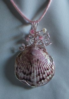 Seashell necklace im totally making this i have a ton od left over seashell necklace im totally making this i have a ton od left over seashells from my beach trip in january craft ideas pinterest shell aloadofball Images