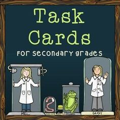 Task Card Resources for Secondary Grades- biology lessons included!