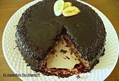 Ένα πεντανόστιμο νηστίσιμο ''Μπανανοκέικ'',νωπό,μαλακ ό και αφράτο με ανεπανάληπτο γλάσο κακάο!!! Το γλάσο αυτό είναι ... Cooking Cake, Cooking Recipes, Vegan Recipes, Pastry Cook, Mumbai Street Food, Greek Sweets, My Best Recipe, Confectionery, Vegan Desserts