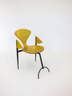 yellowed chair