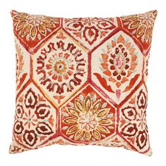 Summer Breeze 18-inch Throw Pillow in Crimson - Overstock™ Shopping - Great Deals on Pillow Perfect Throw Pillows