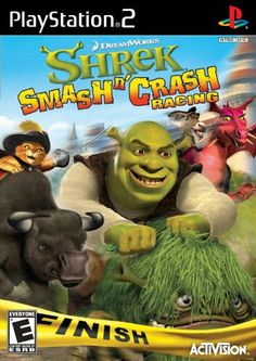 Shrek Smash 'N' Crash Racing - PlayStation 2 Player Race across 12 fairy-tale locations Magical pick-ups to even the odds Watch out for spiders, dragons and more! Nintendo Ds, Pokemon Fusion, Playstation 2, Soul Eater, Super Smash Bros, Clash Of Clans, Inuyasha, Homestuck, Digimon