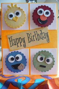 Sesame Street inspired card - Tarjeta, etiqueta o invitacion para fiesta barrio sesamo