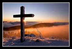 Some days I feel so tossed around in my emotions when fighting symptoms...Sometimes you have no words even to offer up prayers ..cuz your just tired. Thankyou God my heart is not far from yours. When I looked at this picture it shows the sun rising or setting ...And this is true ..it does over me and you daily...What I realize is that your cross cannot be undone ...it's mercy shall always shadow me no matter what time of day or night . Your love is imoveable, true and everlasting!