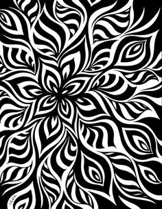 So i wanted to add this before i colored it- kind of a before and after deal- plus i dont know how long it'll take to color it or when i'll get around t. Home Grown line art Stencil Patterns, Zentangle Patterns, Stencil Designs, Pattern Art, Pattern Design, Zentangles, Geometric Patterns, Geometric Art, Colouring Pages