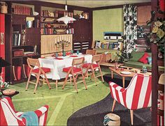 Love the flooring. 1953 Armstrong Living Room